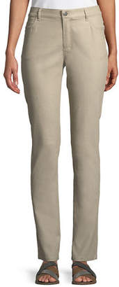 Lafayette 148 New York Thompson Waxed Denim Slim-Leg Jeans