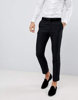 French Connection Slim Fit Peak Collar Tuxedo Pants