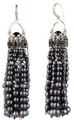 Carolee Cultured Freshwater Pearl Tassel Earrings
