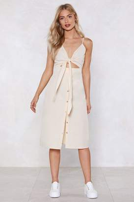 Nasty Gal Cut-Out the Middle Woman Midi Dress