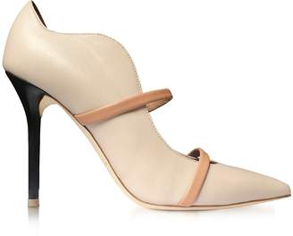 Malone Souliers Maureen Ice, Nude and Black Nappa Leather High Heel Pump