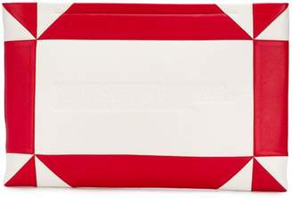 Calvin Klein embossed geometric pouch