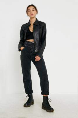 BDG '80s Mom Jeans - black 24W 30L at Urban Outfitters
