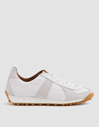 Reproduction Of Found German Military Trainer with Jogging Sole in White