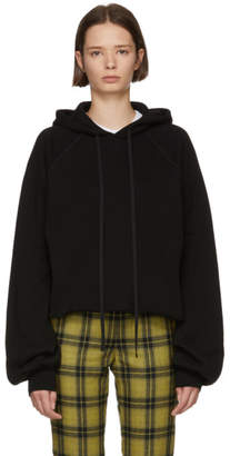 Unravel Black Cotton and Cashmere Hoodie