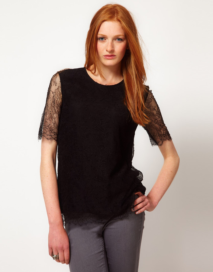 ADAM By Adam Lippes Lace T-Shirt