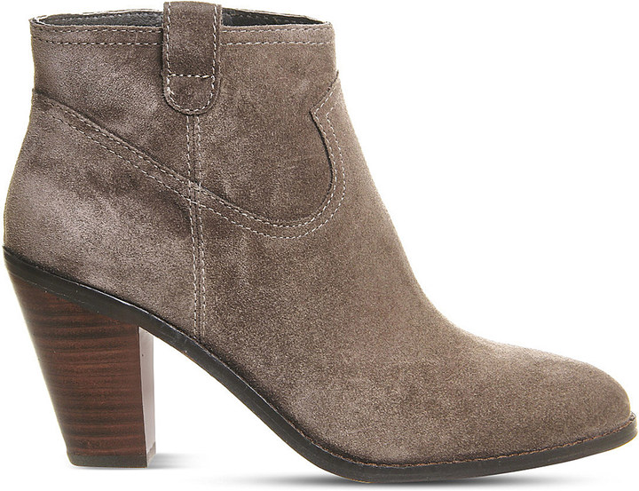 Ash Ash Ivana suede heeled ankle boots