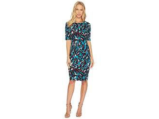 Ellen Tracy Printed Ponte Dress Women's Dress