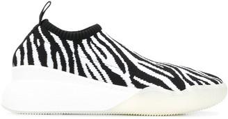 Stella McCartney Loop zebra print low-top sneakers