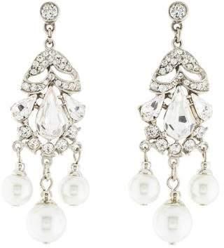 Ben-Amun Ben Amun Olivia Crystal & Pearl Chandelier Earrings