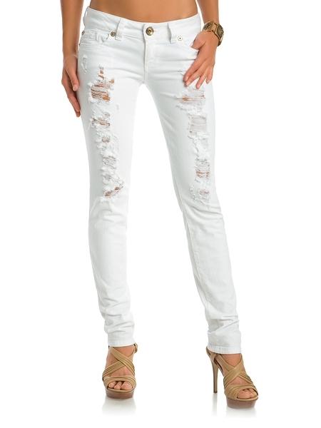 Daredevil Skinny Jeans - White Wash