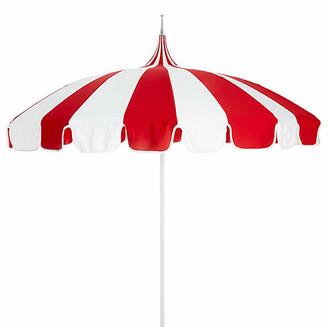 California Umbrella Pagoda Patio Umbrella - Red/White