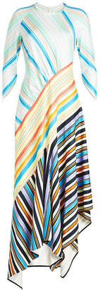 Peter Pilotto Striped Maxi Dress with Asymmetric Hem