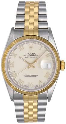 Rolex Datejust 16233 2-Tone Roman Numerals 36mm Mens Watch