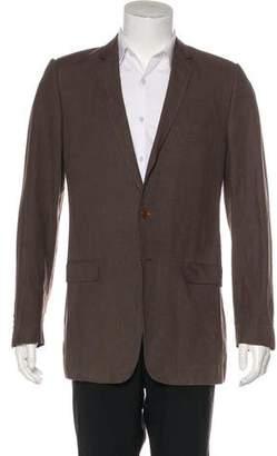 Dolce & Gabbana Linen Notch-Lapel Blazer