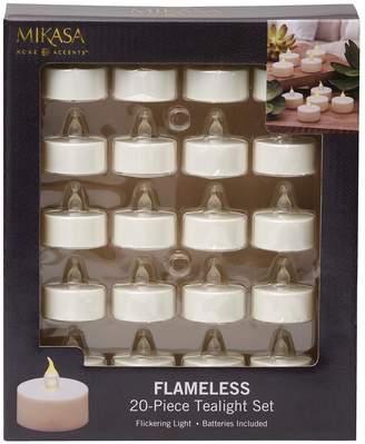 Mikasa Flameless LED Plastic Tealights 20-Pack