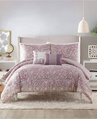 Peking Indigo Bazaar Socorro Queen Comforter Set - 5 Piece Bedding