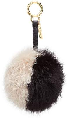 Fendi bi-colour pompom charm