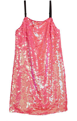 Milly Chelsea Paillettes Spaghetti-Strap Dress, Size 7-16
