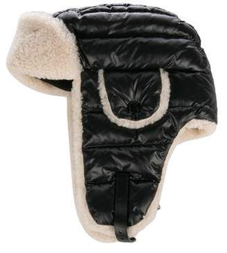 dbe6c664b7ccb Moncler Shearling Lined Trapper Hat