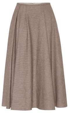 Rochas Checked wool-blend skirt