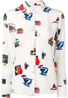 Paul Smith Paul's Scrapbook print shirt