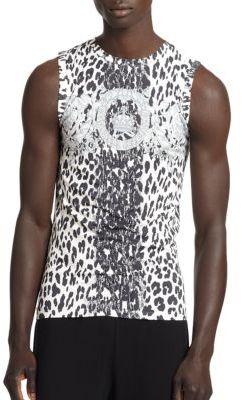 Versace Logo Greca Print Tank $295 thestylecure.com