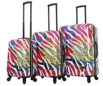 Serengeti Halina Bee Sturgis Reflections 3 Piece Hard Side Spinner Luggage Set