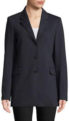 Theory Striped Notch Lapel Jacket