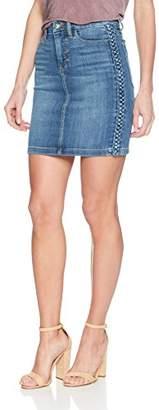 Joe's Jeans Women's High Rise Cut Off Jean Skirt