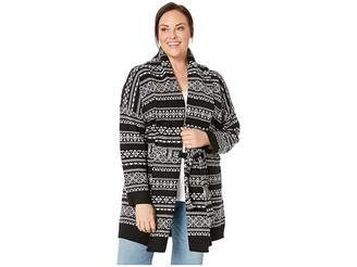 Lauren Ralph Lauren Plus Size Wool-Blend Belted Cardigan