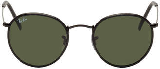 Ray-Ban Black Leather Round Craft Sunglasses