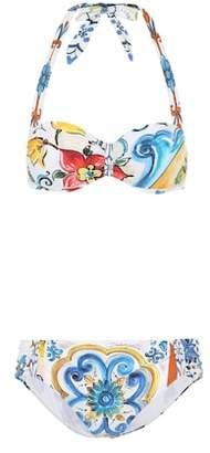 Dolce & Gabbana Majolica printed bikini