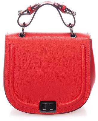 Lisa Minardi Leather Crossbody Saddle Bag