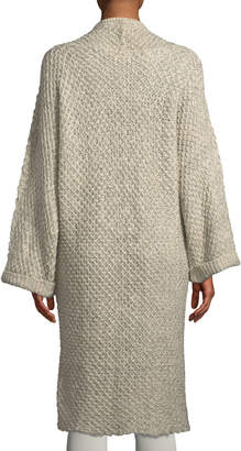 Shanty Forest Open-Front Long Cardigan