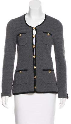 Trina Turk Bicolor Button-Up Cardigan