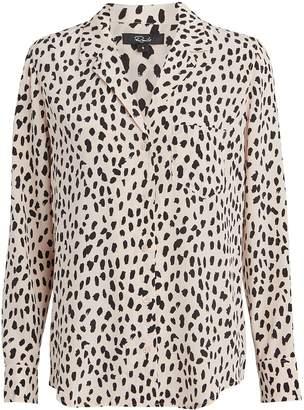 Rails Rebel Cheetah-Printed Silk Shirt