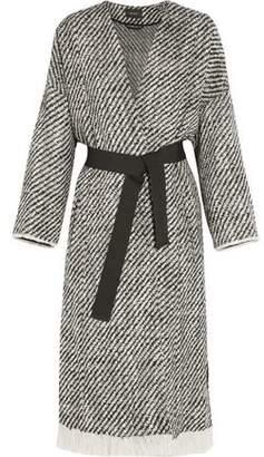 Isabel Marant Iban Fringed Wool-Blend Tweed Coat