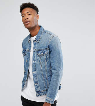 Asos Design DESIGN tall denim jacket in light wash