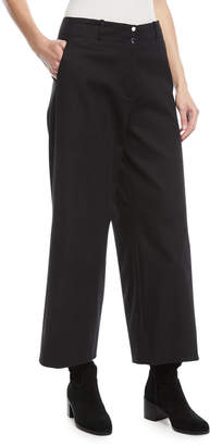 Loro Piana Benton Wide-Leg Tricot Stretch-Cotton Pants