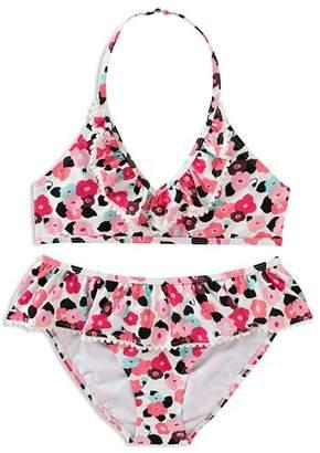 Kate Spade Girls' Ruffled Blooming Floral 2-Piece Swimsuit - Big Kid