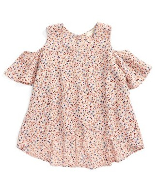 Girl's Soprano Cold Shoulder Swing Top $32 thestylecure.com