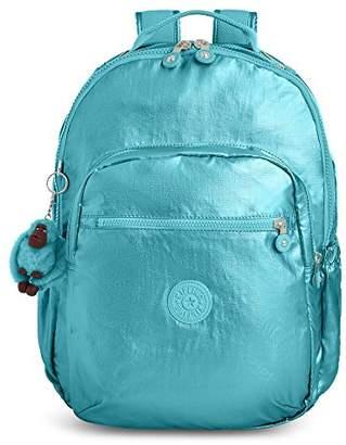 Kipling Seoul GO Sparkly Gold Laptop Backpack