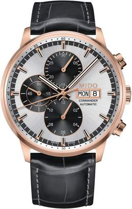 MIDO Commander Chronometer Leather Strap Watch, 42mm