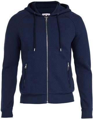 Orlebar Brown Brayfield chevron-knit cotton hooded sweater