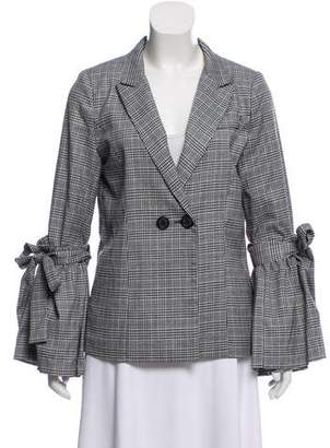 Walter Baker Plaid Bell-Sleeve Jacket w/ Tags