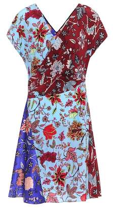 Diane von Furstenberg Floral-printed silk dress