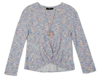 08c8785be5c at Walmart.com · Amy Byer Space Dye Tuck Front Long Sleeve Top with  Necklace (Big Girls)