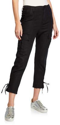 Joie Telutci Cropped Linen Cargo Pants
