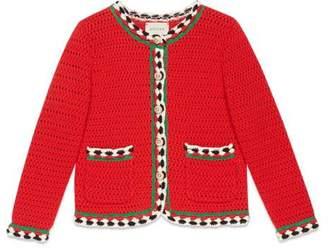 Gucci Children's crochet cardigan